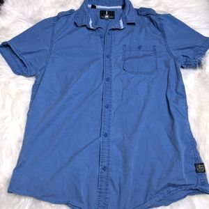 Jeans By Buffalo Blue Button Front Shirt Casual M